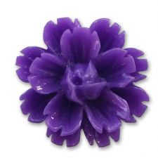 14mm Dark Purple Lucite Flower Resin Flatback Cabochons